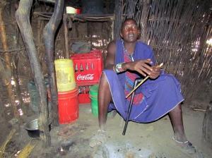 7 Masai woman home